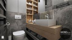 Łazienka w ciemnych kolorach - zdjęcie od MONOstudio