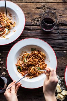 We've partnered with Tieghan Gerard, founder of Half Baked Harvest, to create a Butter Poached Lobster & Shrimp with Creamy Tomato Fettuccine Pasta Recipe.