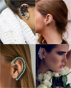 Would be concerned about weight and where it grips the ear. Ear Cuff Piercing, Other Accessories, Beaded Earrings, Jewerly, Fashion Jewelry, Tattoos, My Style, Ear Cuffs, 1