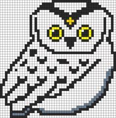 Snowy Owl Perler Perler Bead Pattern | Bead Sprites | Animals Fuse ...