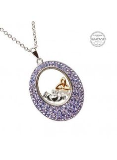 claddagh-and-trinity-pendant-with-tanzanite-swarovski-crystals