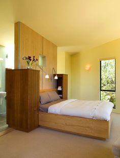 interesting nightstand design - a bit massive