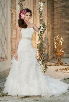 Wedding Dresses - Lace Bodice Artichoke Wedding Dress from Camille La Vie and Group USA