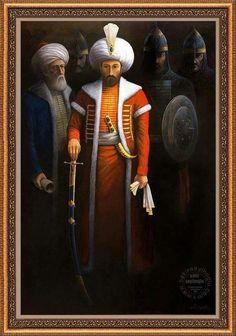 Mehmet Khan The Conqueror ( The Ottoman Emperor) Historical Art, Historical Pictures, Empire Ottoman, Ottoman Turks, Islamic Paintings, Book Of Kells, Arabic Art, Knights Templar, Medieval Fantasy