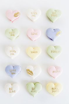 22 Conversation Heart-Inspired Ideas We Want To Make Out With - Style Me Pretty Living
