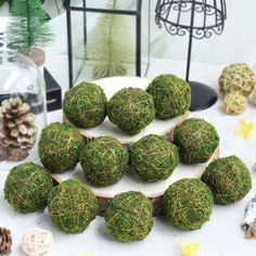 TableClothsFactory will bring an Earthy look to your wedding decor with moss sheets wholesale. Buy & save on our collection of planter moss liner and preserved moss bulk for your home interiors and upcoming Events! Green Wedding Decorations, Unique Wedding Centerpieces, Christmas Party Decorations, Christmas Diy, Rose Garland, Leaf Garland, Moss Grass, Mosses Basket, Moss Decor