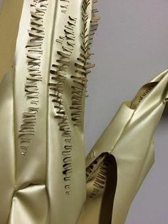 Trots op Karin Arink. Detail van het gelaserde werk. On show next summer: Expo 'Under the skin'