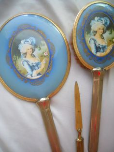 Antique Marie Antoinette French Vanity Set by ZoeAmaris on Etsy, $119.95