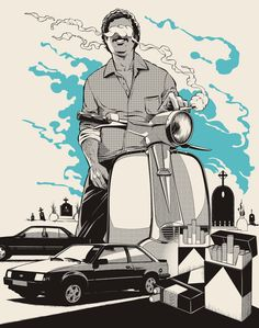 Ilustraciones biográficas de Pablo Escobar   No me toques las Helvéticas   Blog sobre diseño gráfico y publicidad