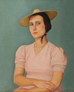 "kundst: "" Antinio Donghi (It. 1897-1963) Elisa (Portrait of miss Luisa)…"