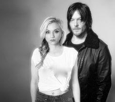 Norman Reedus Emily Kinney #gc The Walking Dead Bethyl Normily Daryl Dixon Beth Greene