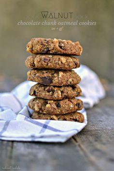 com vegan walnut chocolate chunk oatmeal cookies more cookies