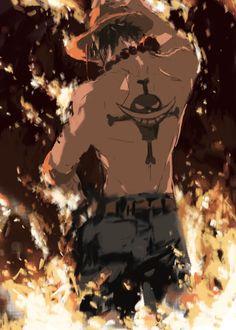 One piece Ace - anime Manga Anime, Anime One, I Love Anime, Manga Art, Anime Guys, One Piece Ace, Portgas Ace, One Piece Wallpaper Iphone, Japon Illustration