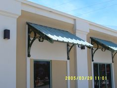 Clamshell Aluminum Awning Color Options Haggetts