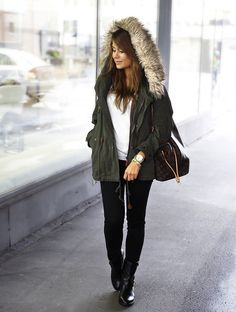 Fall outfit. Nice jacket.
