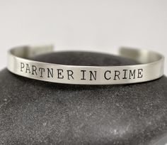 Partner in Crime Best Friend Bracelet Bff Bracelets, Best Friend Bracelets, Friendship Bracelets, Jewelry Case, Unique Jewelry, Girls Time, Types Of Bag, Partners In Crime, Best Friends Forever