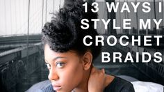 Crochet Braids (Marley Hair) How to style natural looking crochet braids