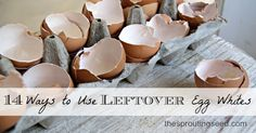 14 ways to use leftover eggwhites thesproutingseed #eggwhites