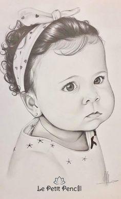 RETRATO A LAPIZ INFANTIL RETRATO BEBE RETRATO NIÑA RETRATI POR ENCARGO