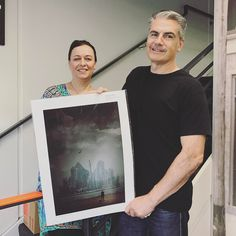 Larry and his wife with their very own The Anonymous Man print. Larry is from @tigercorporation who made the embosser that each print is embossed with.  Do you want your own mystery print as well?  click the link in my bio  http://ift.tt/2iel6Zx... - - - lisa@lisasaad.com - - #anonymousmanseries #lisasaad #lisasaadphotographer #melbournephotography #commercialphotographer #photoaday #professionalphotographer #advertisingphotographer #photographer #ilfordmaster #epson #melbournecbd…