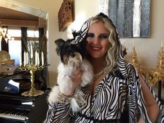 My Harlow with model at the fashion shoot at my house.