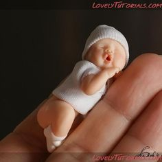 Sculpt polymer clay baby: step by step