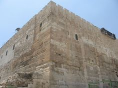 View of the southeast corner of the Temple Mount. This is where Satan tempted Jesus to jump. In 26 AD there would have been a high tower at the top of this corner.