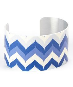 Another great find on #zulily! Blue & White Whale Tale Cuff #zulilyfinds
