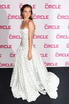 The actress was the belle of the premiere for her film The Circle.Emma Watson may no longer be playing a Disney princess, but that doesn't mean she has to stop dressing like one. Watson was the belle of the ball at the premiere for her film The Circle on Wednesday night in Paris, giving an update to