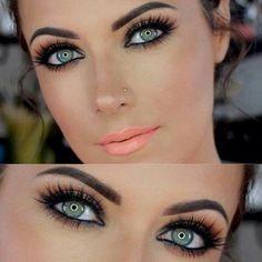 Very Pretty using Coral Lip & Neutral Eye Tones- Stylish Eve