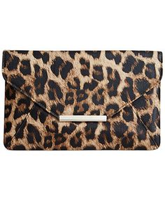 Top Pinned Accessory Style Co Leopard Print Clutch Bag Cheetah