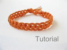 Quick macrame bracelet photo tutorial pattern pdf by Knotonlyknots