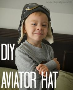 Minus the goggles, great tutorial. Play Eat Grow: DIY Aviator Hat Sewing For Kids, Baby Sewing, Sew Baby, Amelia Earhart Costume, Hat Patterns To Sew, Sewing Patterns, Diy Vetement, Aviator Hat, Steampunk Costume