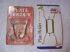 "Lot Of 2 Collecter Plate Holders,1,Vintage,1,Newer "" NOS ITEMS "" AWESOME SET "" #vintage #collectibles #kitchen #home"