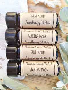 Lunar Phase Aromatherapy Oil Blends Set of 4 by MoonriseCreek