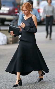 Sienna Miller from The Big Picture: Today's Hot Pics  All black everything! The actress is spotted out and about in New York City.