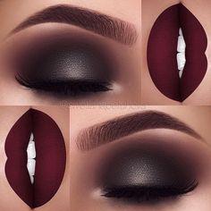 "519 Likes, 4 Comments - HypNaughty (@hypnaughty.makeup) on Instagram: ""Perfection ❤️❤️❤️ @swetlanapetuhova ・・・ Issa vampy fall look ❤️ Lips: @hanadibeauty…"""