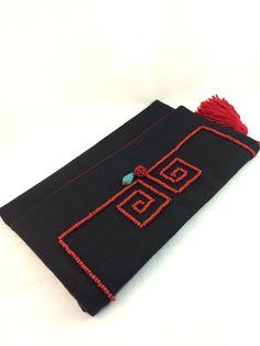 Embrague de sobres bolsa Boho étnicos clave griega por ARoxDesign