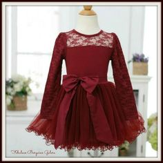 Baby Girl Fall Eleanor Burgundy Chiffon and Cotton Tulle Occasion Lace Dress. Baby Girl Fall Eleanor Burgundy Chiffon and Cotton Tulle Occasion Lace Dress Winter Christmas Holiday party Tulle dress. Perfect for weddings, birthdays, parties and other special occasions. Put this dress on your daughter and she will be transformed into a complete princess. Suitable for summer, spring and autumn. Hand wash recommended 100% customer satisfaction guaranteed. Buy with confidence