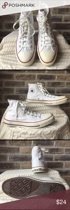 3b39b0f2c5f2b Converse All-Stars Men s size 9 women s size 11 Chuck Taylor Converse  All-Stars. Noticing pictures the rubber is more of a cream color.