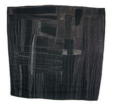 Christine Mauersberger -- Mind Map, 2011  ____  Linen, silk blend thread, hand-stitched  Size: 41 x 40