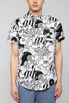 0fe6d8c4cfadf5 Staple Pigeon x Steven Harrington Button-Down Shirt via urbanoutfitters.com  Graphic Shirts