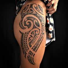 100 Best Tribal Tattoos and Designs for Men and Women - Millions Grace Maori Tattoos, Tribal Hip Tattoos, Maori Tattoo Frau, Polynesian Tribal Tattoos, Tribal Tattoos For Women, Hip Tattoos Women, Maori Tattoo Designs, Neue Tattoos, Samoan Tattoo