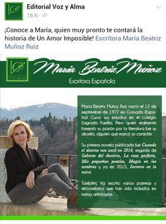 """Autora de """"un amor imposible"""" y counista de la revista la alcazaba"""