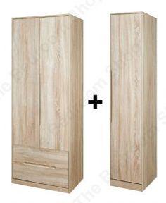 Monaco 3 Door 2 Drawer Wardrobe