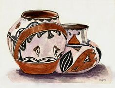 Native American Pottery Painting  - Native American Pottery Fine Art Print