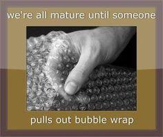 I love bubble wrap..hee hee