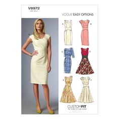 Vogue dress pattern, Misses' Dress-6-8-10-12-14, Item # 13642251
