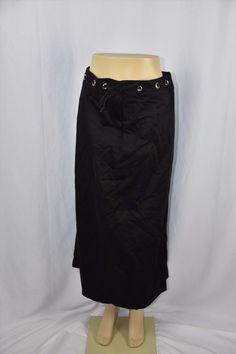 19.35$  Buy here - http://viirx.justgood.pw/vig/item.php?t=t2fwo339767 - My Own Womens 44/12 Black Long Full Length Modest Clothing Skirt No Slits Belt 19.35$