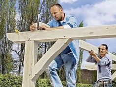 Build your own terrace roof ▷ step by step - All About Balcony Diy Pergola, Retractable Pergola, Pergola Plans, Pergola Ideas, Small Pergola, Wooden Pergola, Pergola Shade, Patio Ideas, Gardens